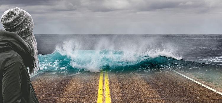 Réchauffement climatique entraînant la montée des eaux