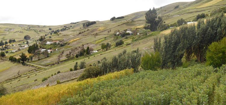 """Les paysages magnifiques de la """"Sierra"""" dans la province de Cotopaxi"""