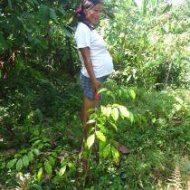 Femme kichwa enceinte